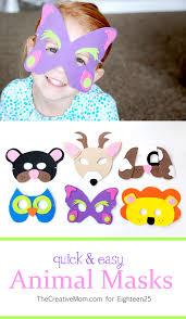 quick and easy animal masks decor ideas pinterest animal