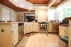 Yellow Kitchens With White Cabinets - mom u0027s kitchen cabinet makeover how to nest for less