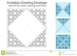 square laser cut invitation template stock vector image 71872548