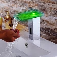 waterfall bathroom faucet kraus single hole vessel glass