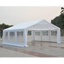 outsunny 20 u0027x20 u0027 heavy duty large outdoor carport garage wedding