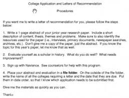 ideas of letter of recommendation sample college program on sample