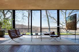 glass house philip johnson interior buscar con google fachadas