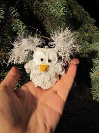 hedwig owl christmas harry potter owl tree decorations white