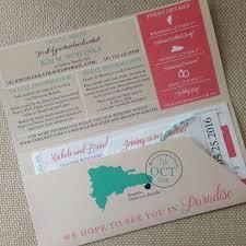 boarding pass invitation and luggage tag rsvp destination wedding