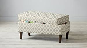 Ikat Storage Ottoman Amazing Upholstered Storage Bench Ikat Fret The Land Of Nod House