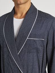 robes de chambre homme derek robe de chambre en coton à pois plaza bleu marine homme