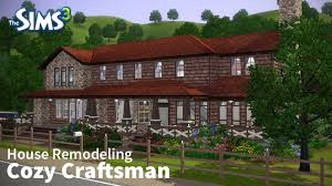 the sims 3 house remodeling cozy craftsman base game only