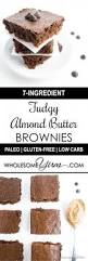 7 ingredient fudgy almond butter brownies paleo low carb