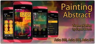Themes Nokia Asha 308 Download | painting abstract theme for nokia asha 305 asha 306 asha 308