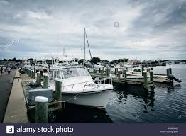 boats and docks in the harbor of hyannis cape cod massachusetts
