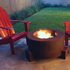 Gas Fire Pit Bowl Ten Steel Fire Pit 30 In Round With Optional Lid