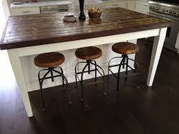 Rustic Kitchen Islands With Seating by Wood Island Kitchen Zamp Co