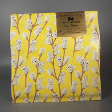 yellow wrapping paper willow norcross vintage cat christmas wrapping paper