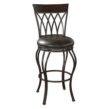 Swivel Bar Stool With Back Furniture Extra Tall Brown Metal Swivel Bar Stool With Back And