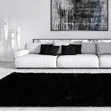 Plush Area Rug by Area Rugs Interesting Black Shag Area Rug Black Area Rugs 9x12