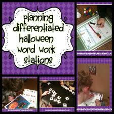 halloween word work planning differentiated kindergarten