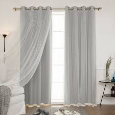 Shimmer Sheer Curtains Aurora Home Mix And Match Blackout And Sheer Tulle Lace With