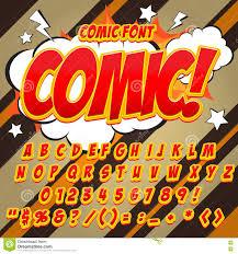 alphabet collection set comic pop art style light color version