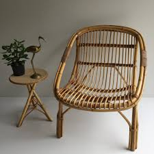 vintage rattan wicker chair