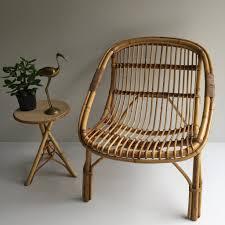 vintage rattan wicker chair
