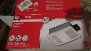 utilitech heater ventilation fan light bathroom 100cfm exaust 7123