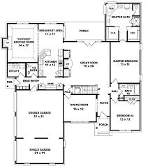 5 bedroom 1 house plans 5 bedroom 2 bath house plans home deco plans