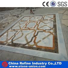 water jet marble floor medallion for high end decoration