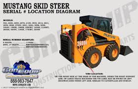 mustang bobcat serial number location for your mustang skidsteer loader