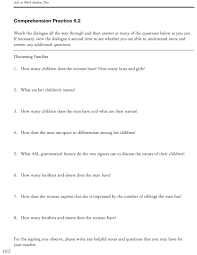 asl at work student comprehension practice answers 28 images