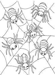 Amazing Spider Coloring Pages In For Adults With Vonsurroquen Me Spider Web Coloring Page