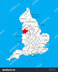 Lancashire England Map by Vector Map Cheshire North West England Stock Vector 325308491