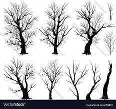 halloween spooky tree silhouette creepy tree royalty free vector image vectorstock