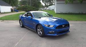 blue mustang 2017 ford mustang gt walkaround start up small burnout
