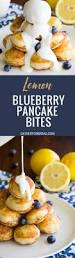 Blueberry Pancake Recipe Lemon Blueberry Pancake Bites Gather For Bread