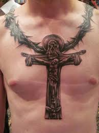 5 christian tattoos on chest for