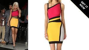 nicki minaj colorblock dress herve leger colorblock sheath dress