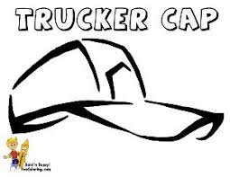 coloring page of trucker u0027s work cap at yescoloring http www