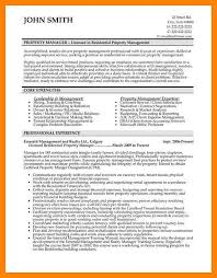 Property Management Resume Template 9 Property Manager Resume Quit Job Letter