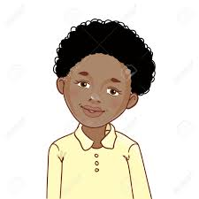 haircuts for african american boys with curly hair teenager cartoon african american boy with curly hair royalty free