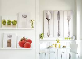 amazing kitchen decor with cute cutlery set for small livinf space