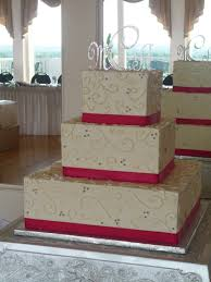 square summer wedding cake ipunya