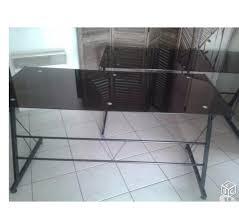 bureau plateau en verre bureau plateau verre noir clasf