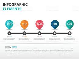 abstract roadmap business timeline infographics elements