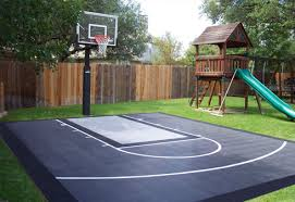 Backyard Basketball Online by Diy Patio Staining Stencil Ideas Dunkstar U2013 Backyard Basketball