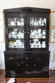 Corner Dining Hutch Best 25 China Cabinet Makeovers Ideas Only On Pinterest Painted
