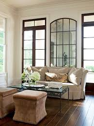 make a statement with a large mirror lamps plus
