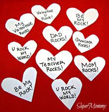 valentine u0027s day easy craft for kids conversation rocks