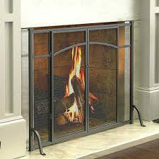 silver colored fireplace screens doors ideas