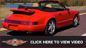 porsche 964 red 1990 porsche 911 964 carrera 4 convertible sold youtube